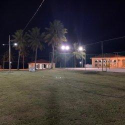 View through sports court