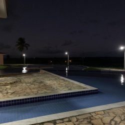 swim up pool nightime